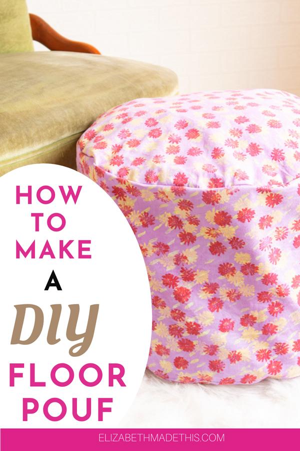 Make a DIY floor pouf